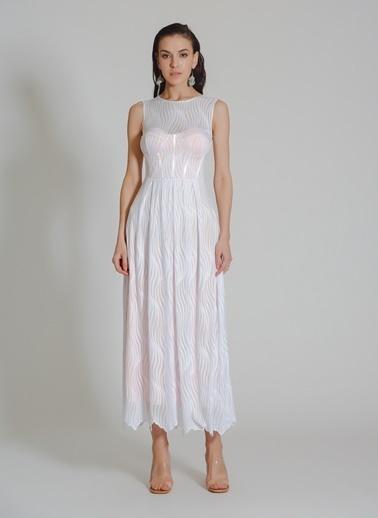 People By Fabrika Dantel Elbise Beyaz